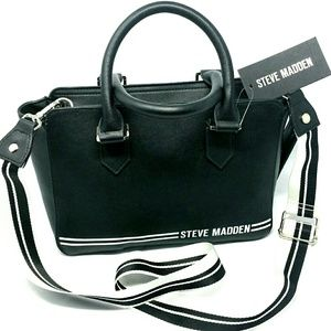 Steve Madden Black and White Purse